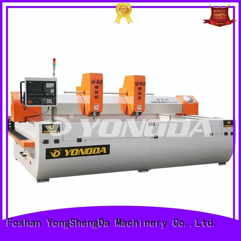 doubleheaded one column cnc engraving machine price 30000rpm YONGDA Brand
