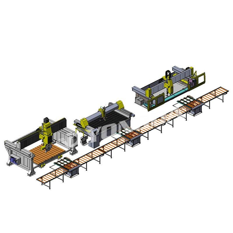 Countertop processing production line