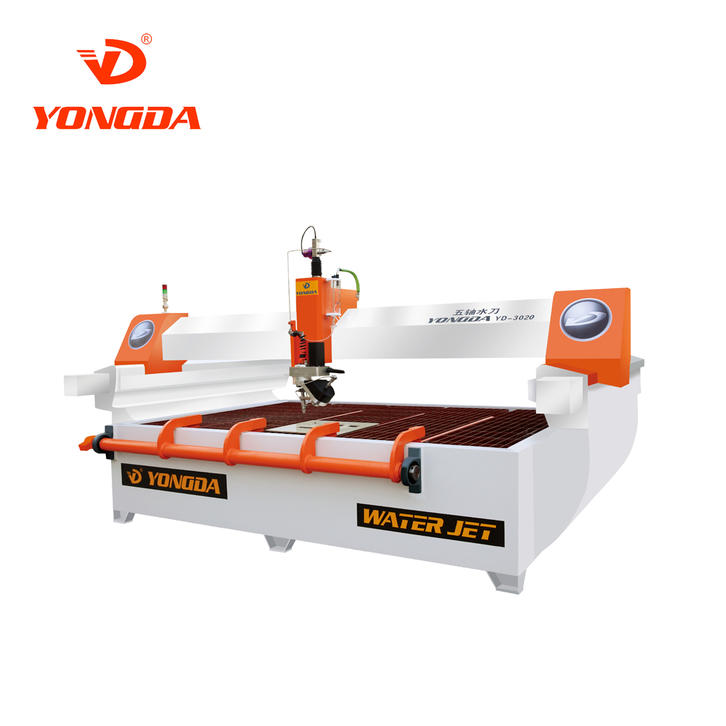 YONGDA 5 Axis Waterjet Cutting Machine 65-degree cutting