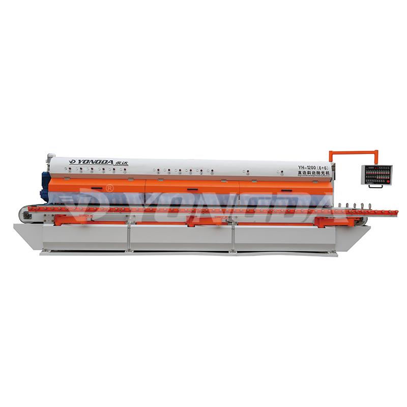 YONGDA YH-1200(6+6)Stone square edge and bevel polishing machine Edge Production Line image4