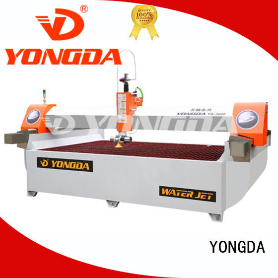 YONGDA machine 5 axis water jet cutting machines simple maintenance for cutting glass